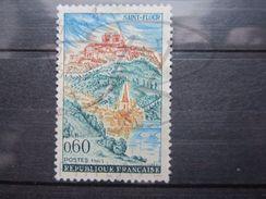 VEND TIMBRE DE FRANCE N° 1392 , ROUGE ABSENT DANS LA VILLE BASSE !!! - Variétés: 1960-69 Oblitérés