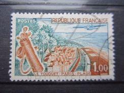 VEND TIMBRE DE FRANCE N° 1355 , ROUTE MARRON !!! - Variétés: 1960-69 Oblitérés