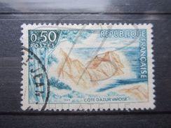 VEND TIMBRE DE FRANCE N° 1391 , ROUGE ABSENT ET SOL BLEU !!! - Variétés: 1960-69 Oblitérés