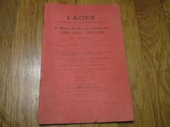 L'ACIER . Son Emploi Et Ses Applications Aux Outils Pour Le Travail Des Métaux, Du Bois, Etc.. Par H. BURIN (36 Pages) - Sciences & Technique