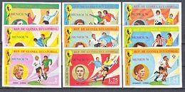Football / Soccer / Fussball - WM 1974:  Equatorial Guinea  9 W **, Imperf. - Weisses Papier/RAR - World Cup