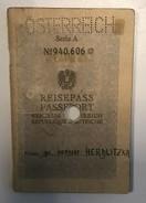 PASSPORT   REISEPASS  PASSAPORTO   AUSTRIA   VISA TO: YUGOSLAVIA , GERMANY , ITALIA , HUNGARY - Historische Dokumente