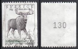 Svezia 1992 Sc. 1934 Alces Alce Number Coil Numero Bobina. Used - Suède