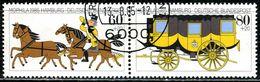 BRD - Michel 1255 / 1256 = WZd 5 - OO Gestempelt (A) - 60+20-80+20Pf  MOPHILA 85 - [7] West-Duitsland