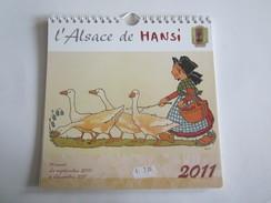 Calendrier L'Alsace De Hansi Illustrateur 2010 à 2011 - Calendriers