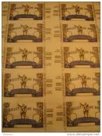 Planche De Billets De Loterie Nationale - Spécimen - Lottery Tickets