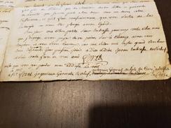Lettre 1771 Corse Fariat Ingenieur Geometre Plan Terrier Ile De Corse - Historical Documents