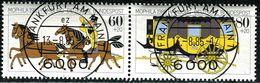 BRD - Michel 1255 / 1256 = WZd 5 - Zentrisch OO Gestempelt (E) - 60+20-80+20Pf  MOPHILA 85 - [7] West-Duitsland