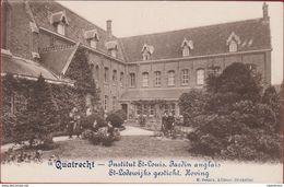 Quatrecht Kwatrecht Melle - Institut St-Louis - Jardin Anglais -St. Lodewijksgesticht Sint -Hoving Geanimeerd ZELDZAAM - Wetteren