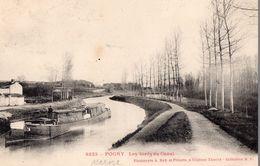 CPA Batellerie  RARE - 51 - POGNY - Les Bords Du Canal - Péniche, Batelier - Collection R.F. - Frankreich
