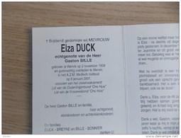 Doodsprentje Elza Duck Wervik 2/11/1909 Menen 8/1/2001 ( Gaston Bille ) - Religione & Esoterismo