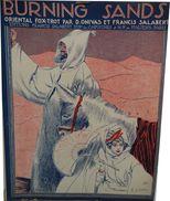 BURNING SANDS - Oriental Fox Trot -- Musique De D.ONIVAS & F. SALABERT - Spartiti