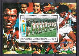 Rep. Central African   -   1981.  Perù Team. BF MNH Rare - Coupe Du Monde