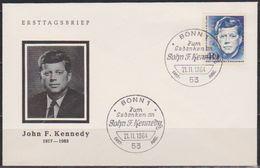 BRD FDC 1964 Nr.453 1.Todestag Von John F. Kennedy (d 177 ) Günstige Versandkosten - BRD
