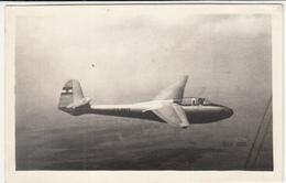 Yugoslav Two-seat Sailplane Ikarus Košava, Second Prototype YU-5023 In Flight 1950's Old Photopostcard Unused B171205 - Aviation