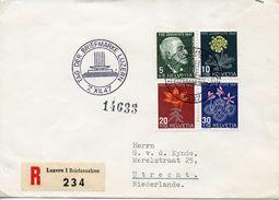 SWITZERLAND -  1947 Pro Juventute - The 50th Anniversary Of The Death Of Jacob Burckhardt - Flowers  FDC1598 - Pro Juventute