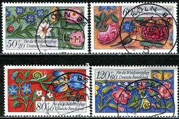 BRD - Michel 1259 / 1262 - OO Gestempelt (B) - Miniaturen, Wohlfahrt 85 - [7] West-Duitsland