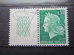 VEND BEAU TIMBRE DE FRANCE N° 1536A , XX !!! - 1967-70 Maríanne De Cheffer