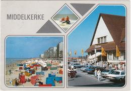 Middelkerke: MERCEDES W123, RENAULT 14, FIAT PANDA, MERCEDES 280S - KUISTAX - Casino, Reddingsboot, Strand - Toerisme