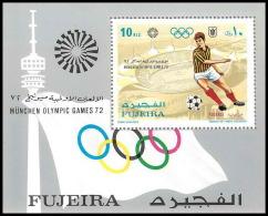 152 - Fujeira MNH ** N° 71 A Jeux Olympiques (olympic Games) MUNICH 72 Football (Soccer) - Verano 1972: Munich