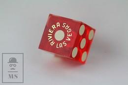 Transparent Red Dice Casino Hotel Riviera Las Vegas Pin Badge - Invierno
