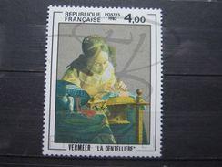 VEND BEAU TIMBRE DE FRANCE N° 2231 , VISAGE VERT , XX !!! - Errors & Oddities