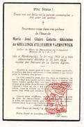 DP Adel Noblesse Marie J. C. De Ghellinck D'Elseghem Vaernewyck 17j. ° Noorderwijk Herentals 1917 † 1934 / Berlaymont - Images Religieuses