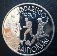 """HUNGARY 500 FORINT 1988 SILVER PROOF """"World Football Championship 1990"""" Free Shipping Via Registered Air Mail - Hongrie"""