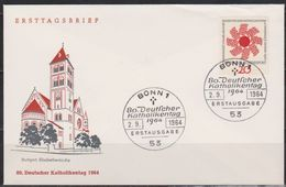 BRD FDC 1964 Nr.444 Katholikentag Stuttgart ( D 3873 ) Günstige Versandkosten - BRD