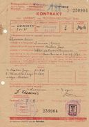Document Timbré Guerre WWII Levering Van Aardapellen 1943 Van Lummen Gestel Tot Brussel Par Tram Chemin De Fer Vicinal - Bahnwesen
