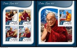 SOLOMON Isl. 2017 - Dalai Lama XIV, M/S + S/S - Buddhism