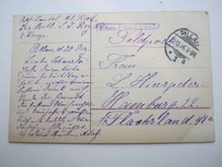 1916 , PILLAU , Klarer Stempel Auf Feldpostkarte  Mit Truppensiegel - Brieven En Documenten