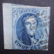 BELGIE  1861     Nr. 11   Met Bladboord  En 2 X Gebuur    P 191  / 8 Baren   Wilrijk -   Onderaan Ingesneden   CW 10,00 - 1858-1862 Medallions (9/12)