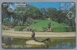 TH.- THAILAND. Phonecard. - 02-09-40 -. 50 BATH. - Monumenten In Park. 2 Scans - Thailand