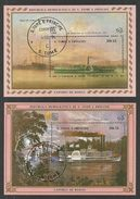 ST THOMAS AND PRINCE 1984 SHIPS UPU HAMBURG DELUXE M/SHEETS USED CTO - Sao Tome And Principe