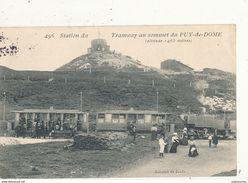 STATION DU TRAMWAY AU SOMMET DU PUY DE DOME CPA BON ETAT - Tramways