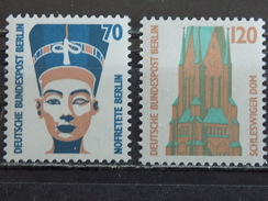 Série 2 Timbres Neuf Allemagne Berlin 1988 : Série Courante, Curiosités - Neufs
