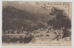 """1 Cpa Tonkin """" Cho Bo Barrage Sur La Rivière Noire """" Pionnière Cachet Sontay - Postcards"""