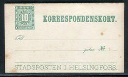 Finlande - Entier Postal De Helsingfors Non Voyagé - Ref D12 - Finland