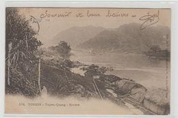 """1 Cpa Tonkin """" Tuyen Quang Rivière """" Pionnière - Postcards"""