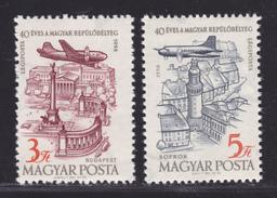 HONGRIE AERIENS N°  211 & 212 ** MNH Neufs Sans Charnière, TB  (D2426) - Airmail