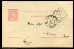 Portugal - Entier Postal De Lisbonne Pour Reims En 1899 - Ref D20 - Postal Stationery