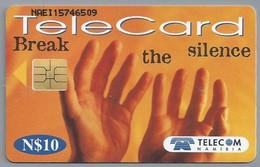 NA.- TELECARD. Break The Silence. TELECOM NAMIBIA. N$10. Namibië. 2 Scans - Namibia