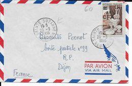 LA REUNION - 1956 - LETTRE Par AVION De SAINTE SUZANNE => DIJON - Reunion Island (1852-1975)