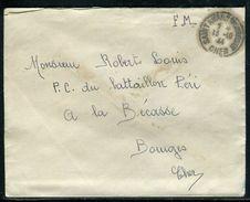 France - Enveloppe  En FM De Saint Amand Montrond Pour Bourges En 1944 - Ref D25 - Marcophilie (Lettres)