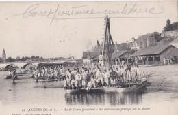 Carte 1915 ANGERS / LE 6 IEME GENIE PROCEDANT A DES EXERCICES DE PONTAGE SUR LA MAINE - Angers