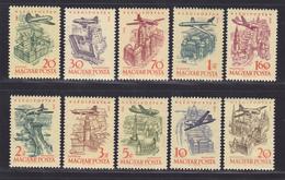 HONGRIE AERIENS N°  213 à 222 ** MNH Neufs Sans Charnière, TB  (D2430) - Airmail