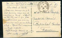 France - Carte Postale De Tunis En FM Pour Carpentras En 1939 - Ref D28 - 2. Weltkrieg 1939-1945