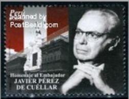 Peru 2010 Former Secretary General Of The United Nations - De Cuellar 1 Brand New - Peru