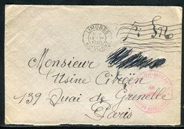France - Enveloppe En FM De Limoges Pour Paris En 1940 - Ref D29 - Guerre De 1939-45